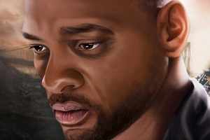Will Smith Paint Art Wallpaper