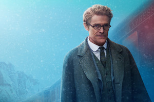 Willem Dafoe As Hardman In Murder On The Orient Express 2017 Wallpaper
