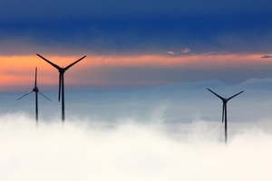 Wind Farm Clouds 5k