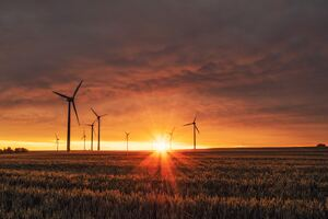Wind Turbines Sunrise 5k