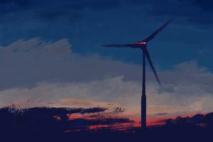 Windmill Art Wallpaper