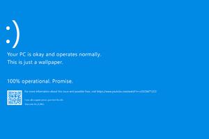 Windows 10 Crash Funny Wallpaper