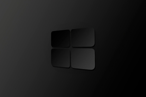 Windows 10 Darkness Logo 4k