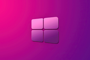 Windows 10 Pink Purple Gradient Logo 4k Wallpaper