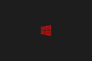 Windows 10 Red Minimal Simple Logo 8k