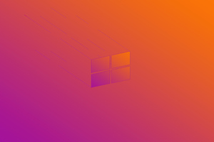 Windows 10 X Minimal Logo 5k Wallpaper