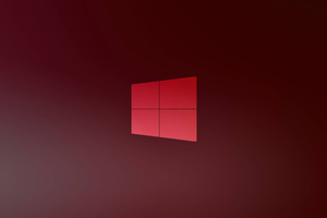 Windows 10 X Red Logo 5k