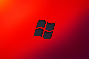 Windows Red Logo Minimal 4k Wallpaper