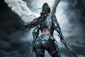 Wing Warrior Girl 4k Wallpaper