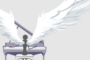 Wings Of Piano Minimalism Wallpaper