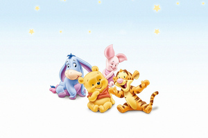 Winnie The Pooh Tigger Eeyore And Piglet Wallpaper
