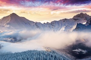 Winter Mountain Snow 4k