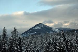 Winter Mountains 5k Wallpaper
