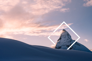 Winter Snow Nature Mountains Abstract 4k