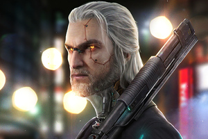 Witcher 2077 Cyberpunk Wallpaper