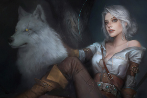 Witcher 3 Ciri Art Wallpaper