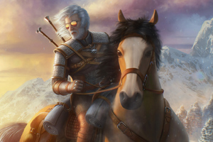 Witcher On Horse