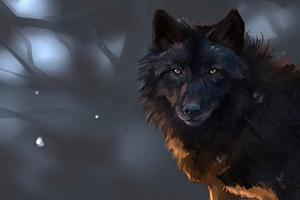 Wolf Art 4k