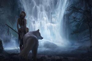 Wolf Girl 4k