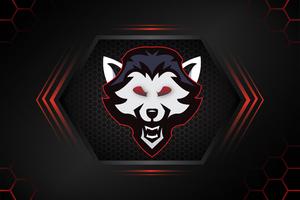 Wolf Logo Minimal 4k