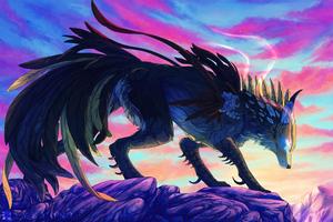Wolf Mountains Illustration 4k