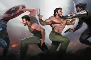Wolverine And Captain America Wallpaper