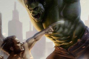 Wolverine And Hulk Art Wallpaper