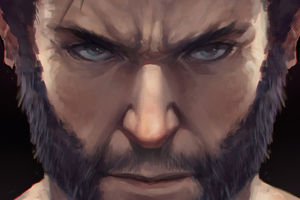 Wolverine Closeup Beard