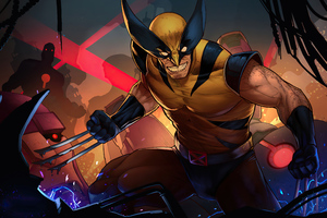 Wolverine Comic Suit Artwork Wallpaper