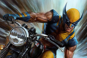 Wolverine On Bike Wallpaper
