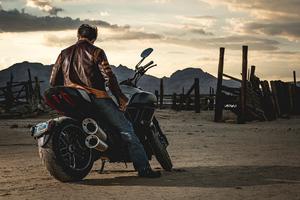 Wolverine On Motorcyle Wallpaper