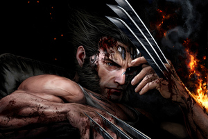Wolverine Showing Claws