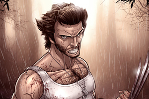 Wolverine Sketch Artwork 4k
