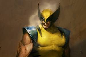 Wolverine Smoking Art Wallpaper