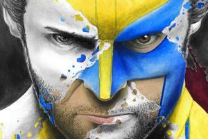 Wolverine Splatter Portrait 5k