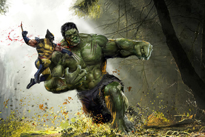 Wolverine V Hulk Wallpaper