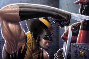 Wolverine Vs Deadpool Art