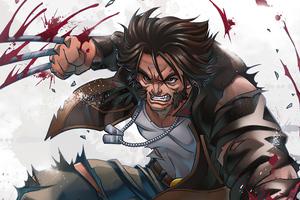 Wolverine Wearing Jacket Claws 4k