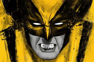 Wolverine Yellow Art 4k