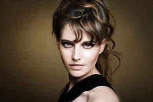 Woman Model Brunette Brown Eyes Wallpaper