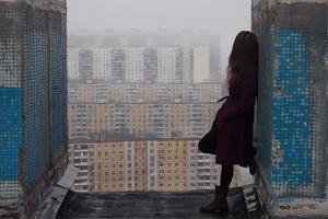 Women Outdoor Destructed City