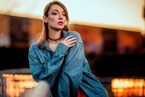 Women Outdoors Portrait Model 4k Wallpaper