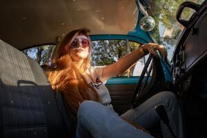 Women Sitting Inside Vehicle 5k Wallpaper