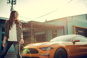 Women With Ford Mustang