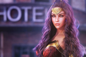Women Woman Dc Fanart 4k