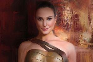 Wonder Woman 1984 Brush Art Wallpaper