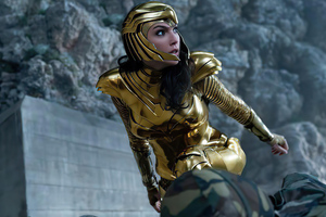 Wonder Woman 1984 Gold Suit 4k Wallpaper
