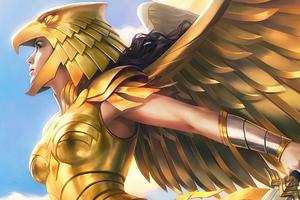Wonder Woman 1984 Gold Suit Wallpaper