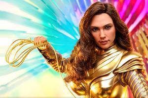 Wonder Woman 1984 Golden Armor Wallpaper