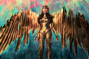 Wonder Woman 1984 Golden Armor Suit Wallpaper